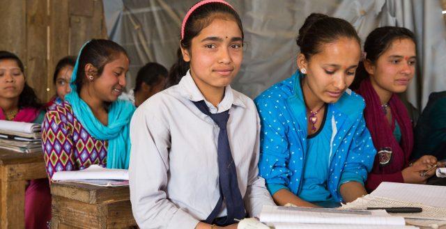 Classroom in Nepal. Credit: Plan International