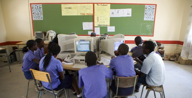 Adolescents in an ICT class, Namibia. Photo: World Bank