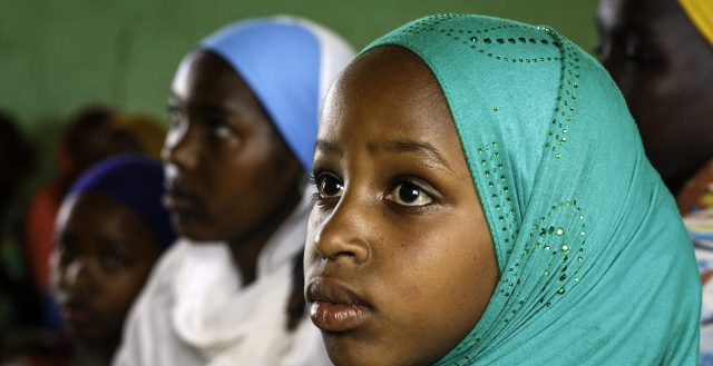 An adolescent girl attends a girls' club meeting in Afar, Ethiopia. Photo: UNICEF Ethiopia