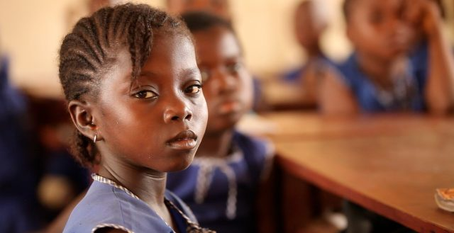 School girl in a classroom. Credit: GPE/Stephan Bachenheimer