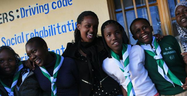 Teen girls, Kigali, Rwanda credit Dining for Girls