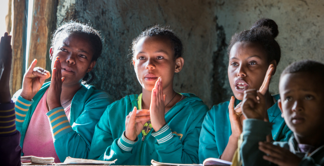 Adolescents with hearing impairments, Ethiopia. Photo: Nathalie Bertrams/GAGE