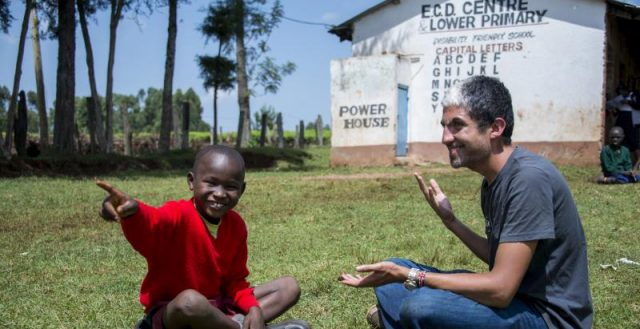 British volunteer Asher Woodman-Worrel works with a rural deaf community in Nandi county, Kenya, teaching sign language. Photo: International Citizen Service