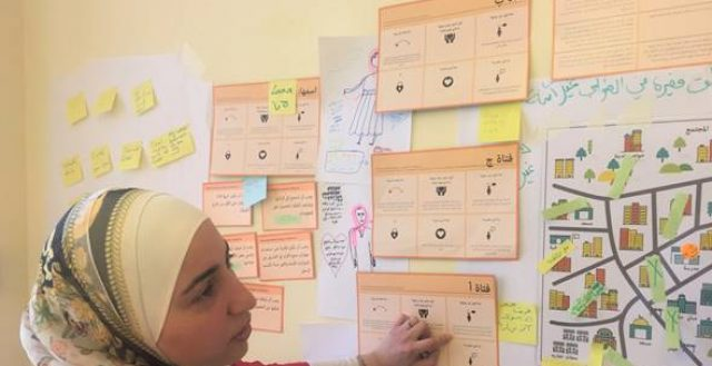 Girl-Centred Design trainings with practitioners in Amman, Jordan. Photo: GirlSPARKS