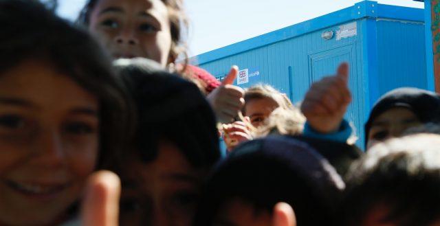 Syrian children at a 'Makani' (MySpace) centre supported in the Azraq refugee camp in northern Jordan. Photo: Russell Watkins/DfID