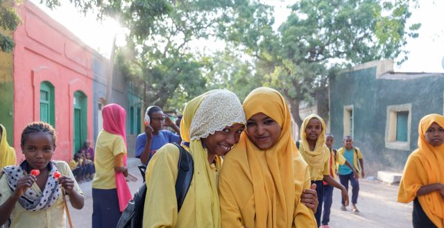 Adolescent girls at school in Dire Dawa, Ethiopia. Photo Nathalie Bertrams/GAGE 2019