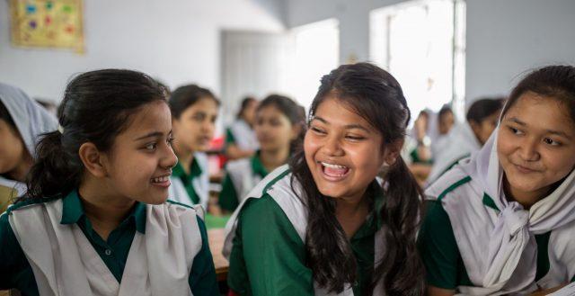 Students at school in Chittagong, Bangladesh. Photo: Nathalie Bertrams/GAGE
