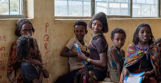 Young adolescent girls in Afar, Ethiopia. Photo: Nathalie Bertrams/GAGE 2019