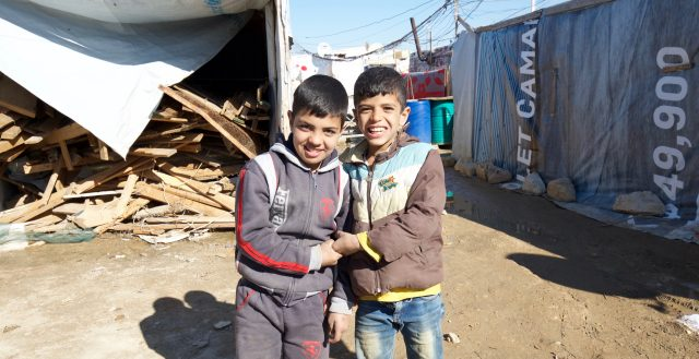 Syrian refugee children in an informal tented settlement in Lebanon. Photo: Russell Watkins/DfID