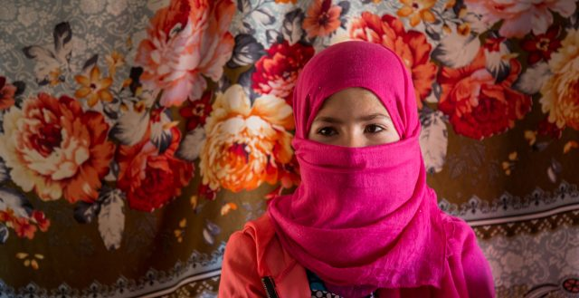 13-year-old girl living in an ITS in Jordan. Photo: Nathalie Bertrams/GAGE 2020