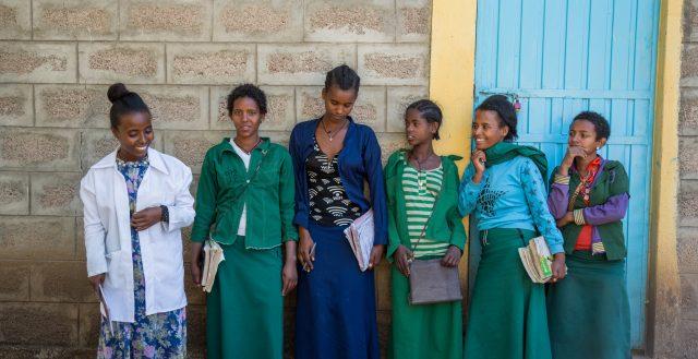 Secondary school girls' club in Amhara region, Ethiopia. Photo: Nathalie Bertrams/GAGE 2020