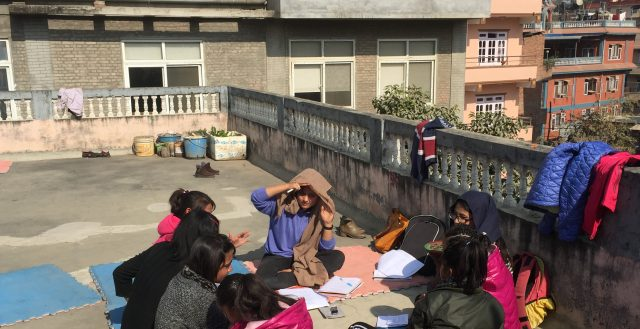 Focus group discussion with adolescents working in the adult entertainment sector in Nepal. Photo: Fiona Samuels