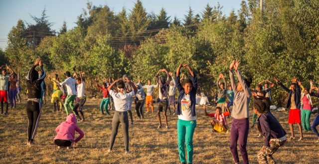 Adolescents at a school sports day in Amhara, Ethiopia © Nathalie Bertrams/GAGE